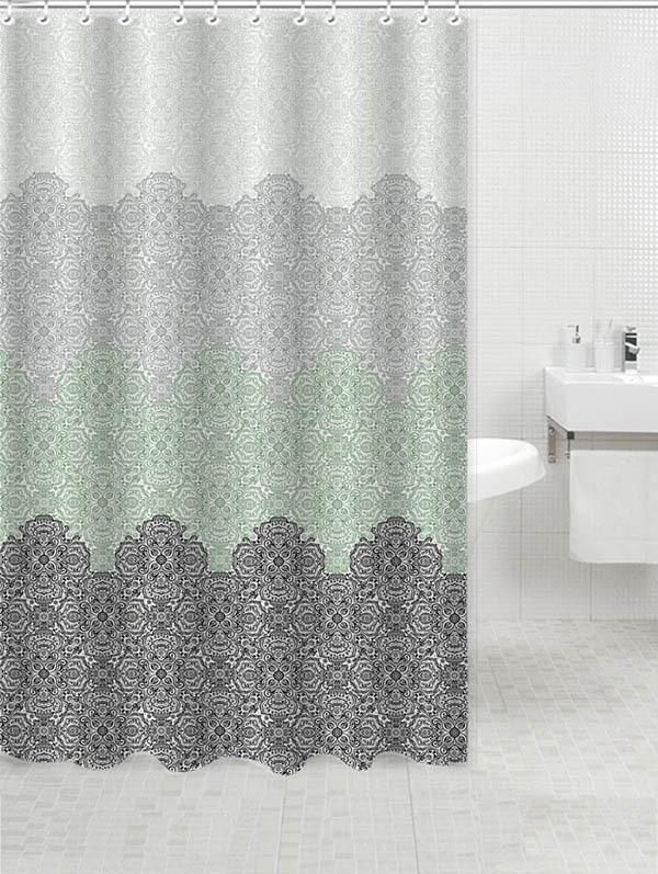 Chinese style flower design of shower curtain for home bathroom ...